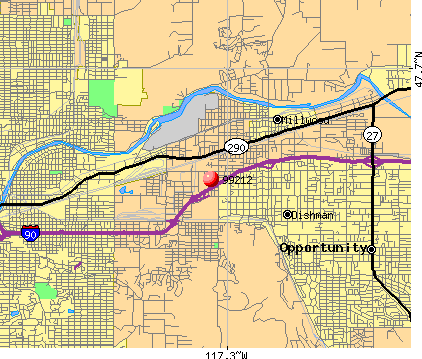 Spokane, WA (99212) map