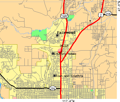 Fairwood, WA (99218) map