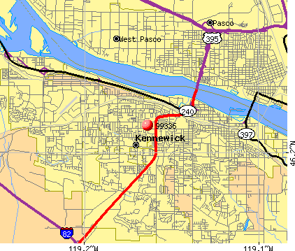 Kennewick, WA (99336) map