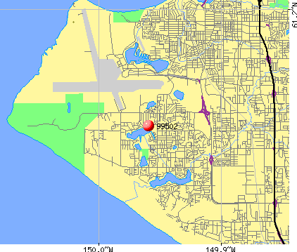 Anchorage, AK (99502) map