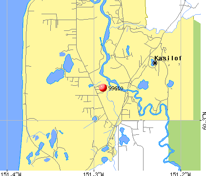 Cohoe, AK (99610) map