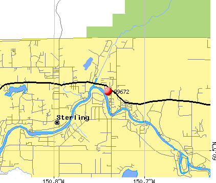 Sterling, AK (99672) map