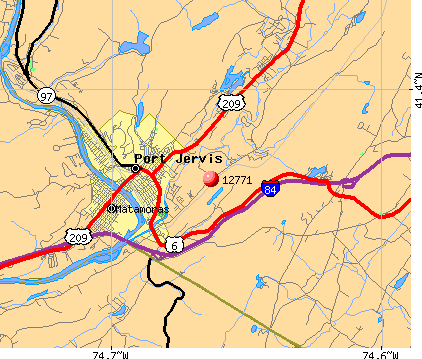 Port Jervis, NY (12771) map