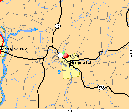 Greenwich, NY (12834) map