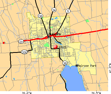 Auburn, NY (13021) map
