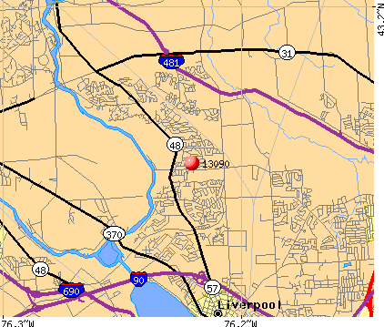 Liverpool, NY (13090) map