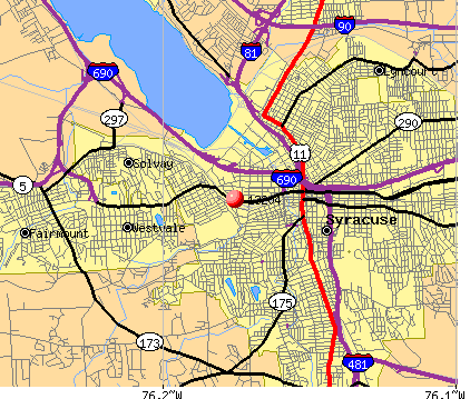 Syracuse, NY (13204) map