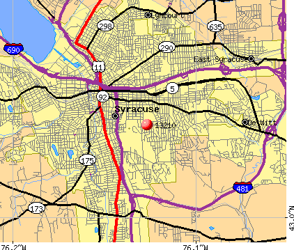 Syracuse, NY (13210) map