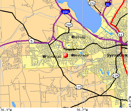 Fairmount, NY (13219) map
