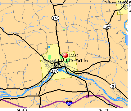 Little Falls, NY (13365) map