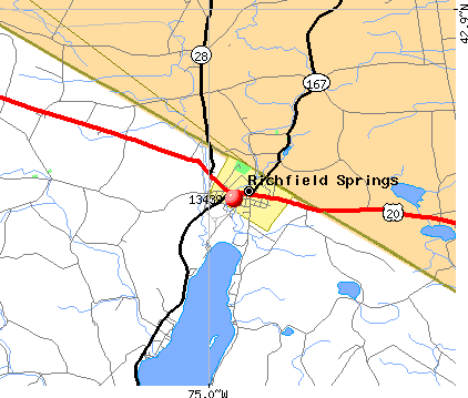 Richfield Springs, NY (13439) map