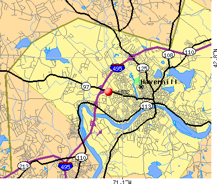 Haverhill, MA (01832) map