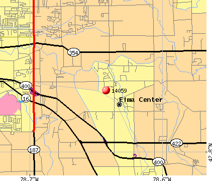 Elma Center, NY (14059) map