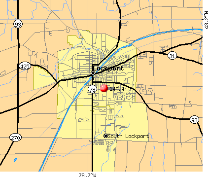 Lockport, NY (14094) map