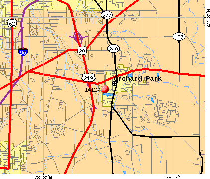 Orchard Park, NY (14127) map