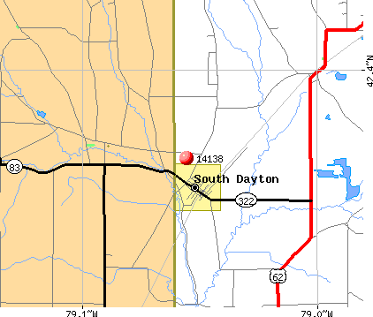 South Dayton, NY (14138) map