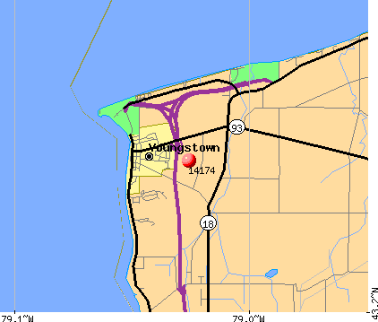Youngstown, NY (14174) map
