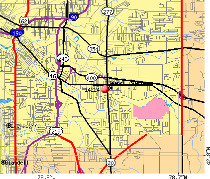 West Seneca, NY (14224) map
