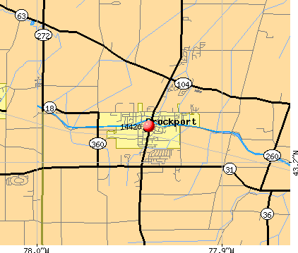 Brockport, NY (14420) map