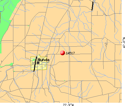 Nunda, NY (14517) map