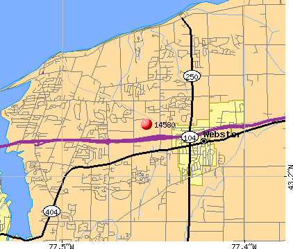 Webster, NY (14580) map