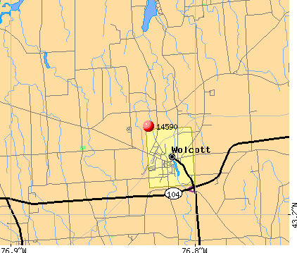 Wolcott, NY (14590) map