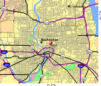 Rochester, NY (14605) map