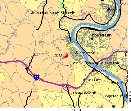 Twilight, PA (15022) map