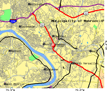 East Pittsburgh, PA (15112) map