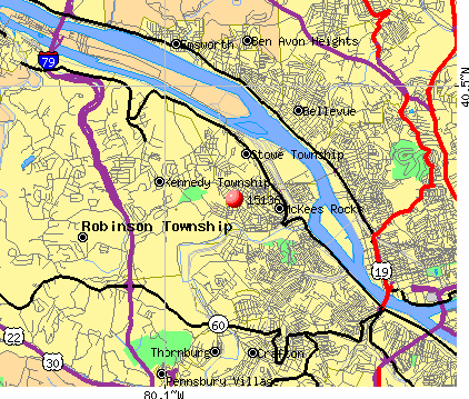 McKees Rocks, PA (15136) map