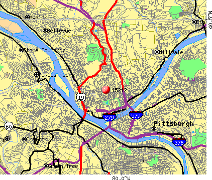 Pittsburgh, PA (15212) map