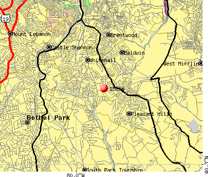 Baldwin, PA (15236) map