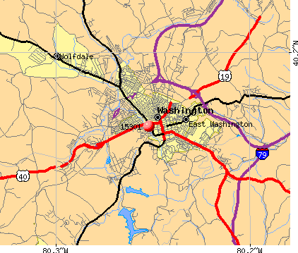 Washington, PA (15301) map