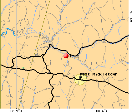 West Middletown, PA (15312) map