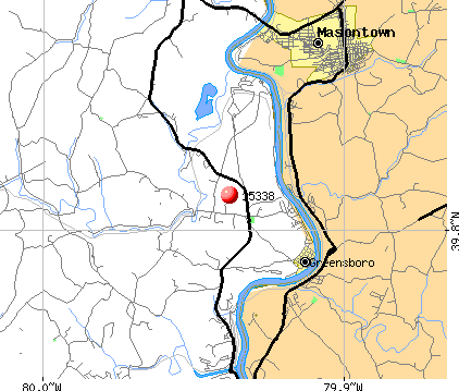 Mapletown, PA (15338) map