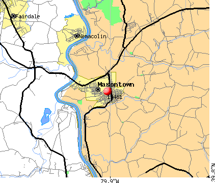Masontown, PA (15461) map