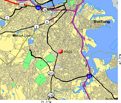 Boston, MA (02121) map