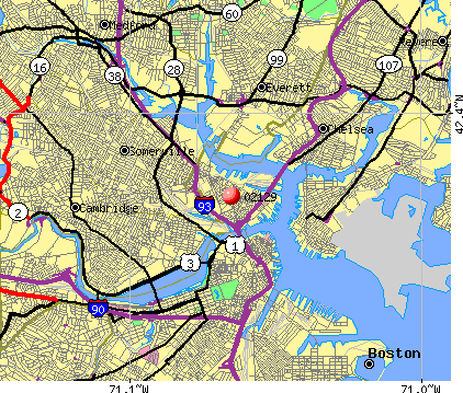 , MA (02129) map