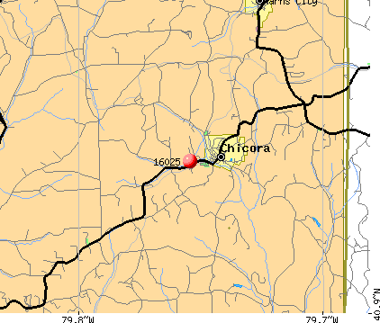 Chicora, PA (16025) map