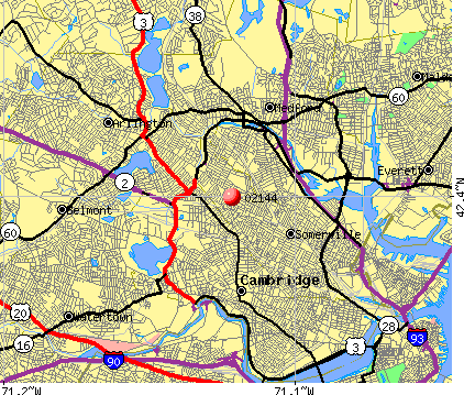 Somerville, MA (02144) map
