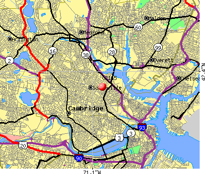 Somerville, MA (02145) map