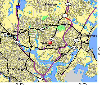 Everett, MA (02149) map