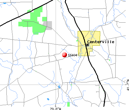 Centerville, PA (16404) map