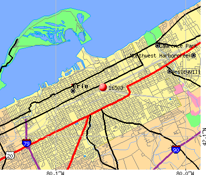 Erie, PA (16503) map