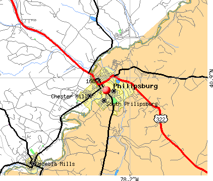 Philipsburg, PA (16866) map