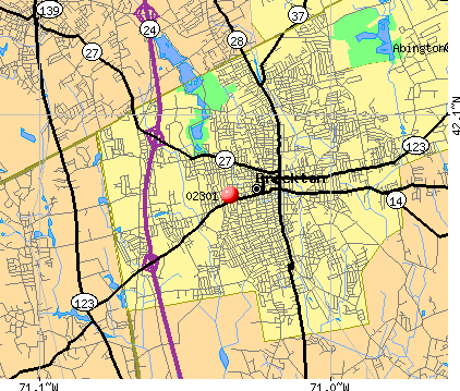 Brockton, MA (02301) map