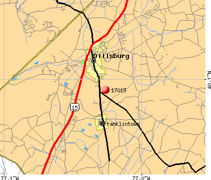 Dillsburg, PA (17019) map