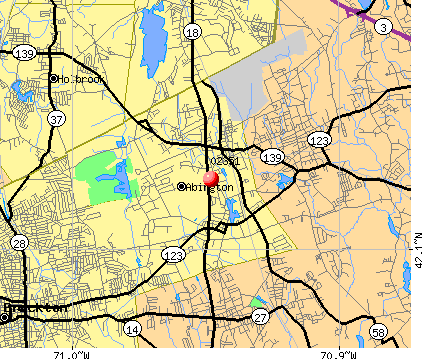 Abington, MA (02351) map
