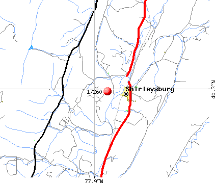 Shirleysburg, PA (17260) map