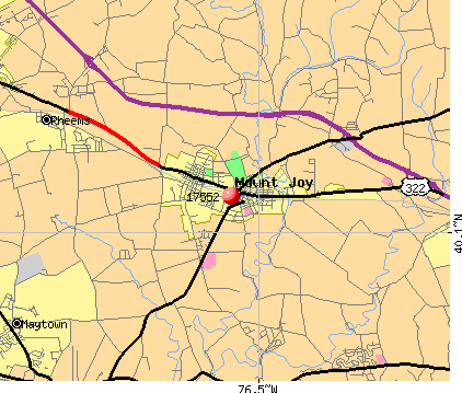Mount Joy, PA (17552) map